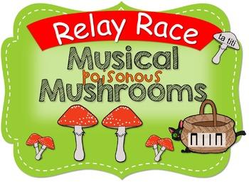 Musical Mushrooms Halloween Relay Race ta titi