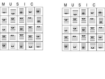 Musical Note Bingo