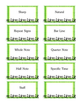 Musical Note Cards - Expanded Deck