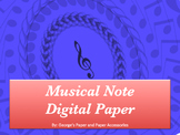Musical Note Digital Paper
