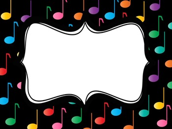 Musical Note Labels