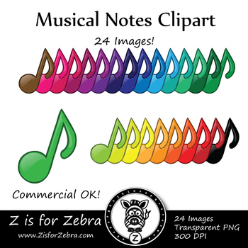 Musical Notes Clip Art - CU Ok { Z is for Zebra }