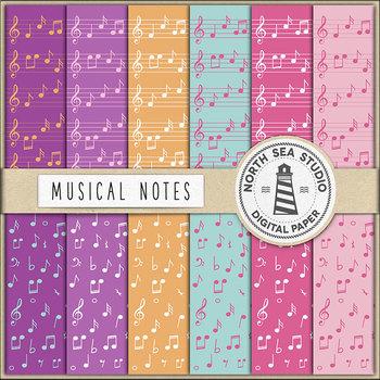 Musical Notes Digital Paper