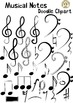 Musical Notes Doodle Clipart