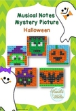 Musical Notes Mystery Picture (Halloween)