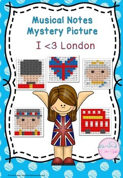 Musical Notes Mystery Picture (I Love London Pack)