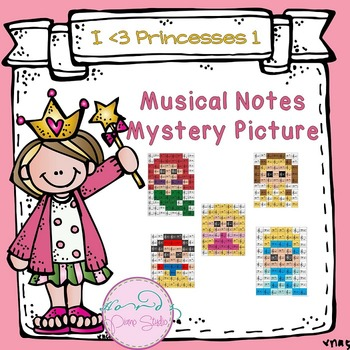 Musical Notes Mystery Picture (I love princesses set 1)
