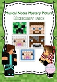 Musical Notes Mystery Picture (Minecraft Pack)