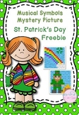 Musical Notes Mystery Picture (St. Patrick's Day) Freebie