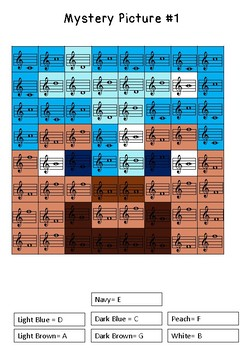 Musical Notes Mystery Picture (TREBLE CLEF) Minecraft
