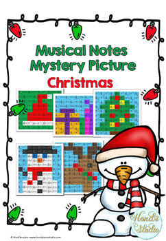 Musical Notes Mystery Pictures (Christmas Pack)