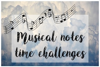 Musical Notes Time Challenges (note identification)