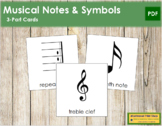 Musical Notes and Symbols: 3-Part Cards