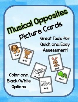 Musical Opposite Assessment Cards