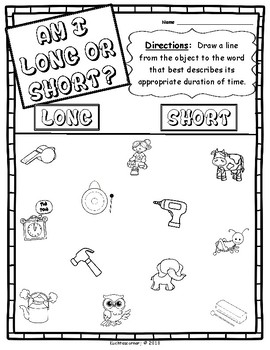Musical Opposites Concepts Packet: Set 4 - Long vs. Short - PDF Worksheets