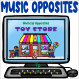 Musical Opposites Toy Store - Distance Learning - Easel Activity