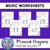 Musical Origami Fortune Tellers