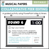 Musical Papers Collaborative Peer Editing Game