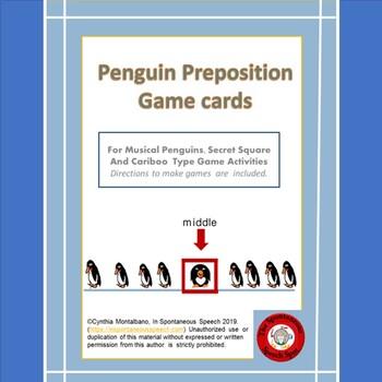 Penguin Preposition Game Cards