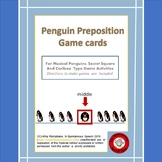 Penguin Preposition Game Cards