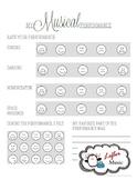 Musical Performance Emoji Self-Assessment