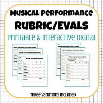 Musical Performance Rubric