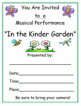 Musical Program: In The Kinder Garden