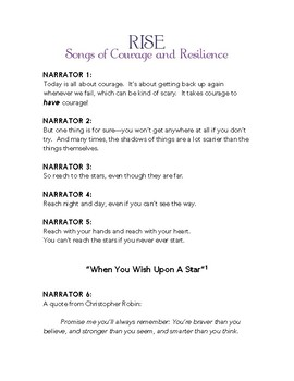 Musical Program about Courage and Resilience: Rise