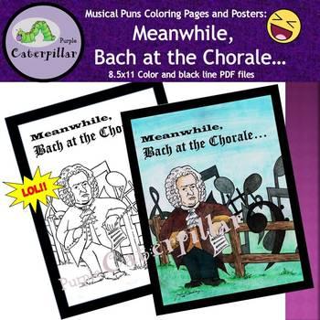 Johann Sebastian Bach ~ Music Poster / Coloring Page