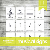 Musical SIGNS, SYMBOLS and NOTES | MONTESSORI Printable Nomenclature Three Part