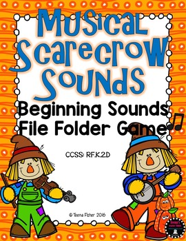 Musical Scarecrows Beginning Sounds Fall File Folder Game Phonics