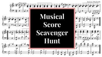 Musical Score Scavenger Hunt (Word Doc)