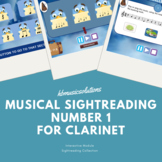 Musical Sight-Reading Number 1 Clarinet