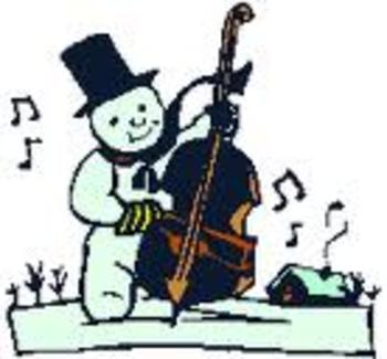 Musical Snowman ~ Yes, he wears a Half Note Hat!