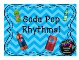 Musical Soda Pop Rhythm Lesson- Slides, Worksheets, Composition