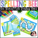 Musical Spelling Bee at the Piano {Color and Ink-Friendly}