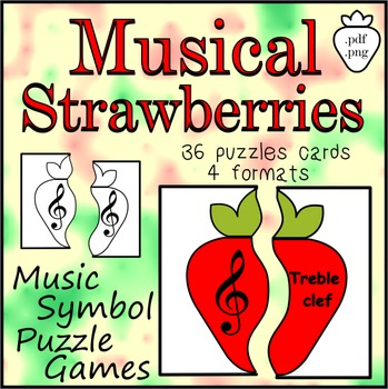 Musical Strawberries Music Symbol Puzzle Games