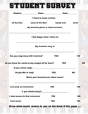 Musical Survey for the upper elementary