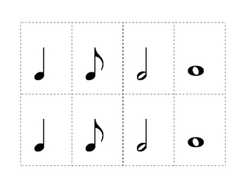 Musical Symbol Memory Match game