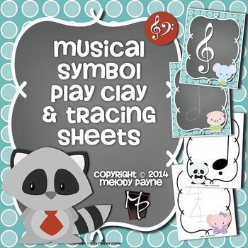 Musical Symbol Play Clay & Tracing Sheets: Friendly Animals