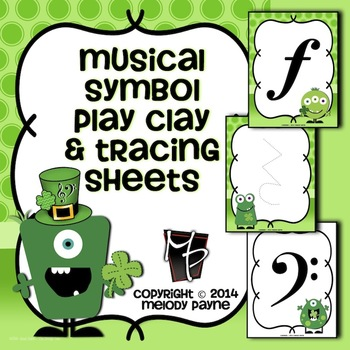 Musical Symbol Play Clay & Tracing Sheets: St. Patrick's Day Monsters!