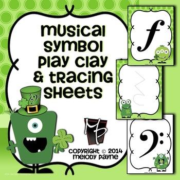 Musical Symbol Play Clay & Tracing Sheets: St. Patrick's D