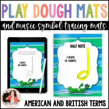 Music Symbol Play Dough & Tracing Mats: Summer Friends
