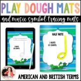 Music Play Dough Mats & Tracing Sheets