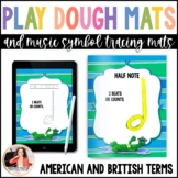Music Play Dough Mats & Tracing Sheets