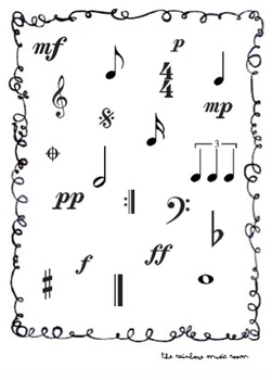 Musical Symbol and Instrument Word Searches (pack of 5)