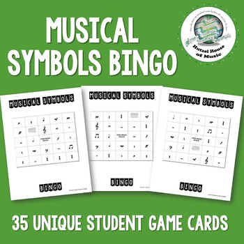 Musical Symbols Bingo ~ Quiet Review Game ~ Great During Testing!