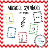 Musical Symbols - uno inspired