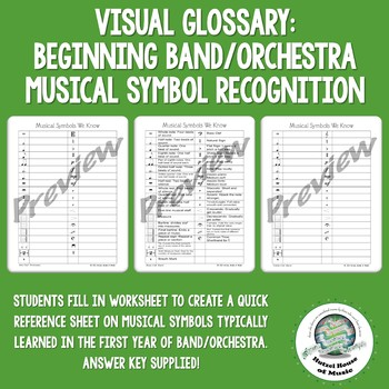 Visual Glossary: Musical Symbols We Know: Band & Orchestra Symbol Recognition