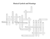 Musical Symbols and Meanings Crossword Puzzle